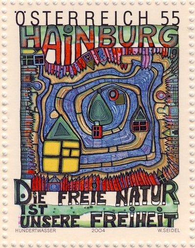 Hundertwasser Stamp Resource The Donau Auen National Park