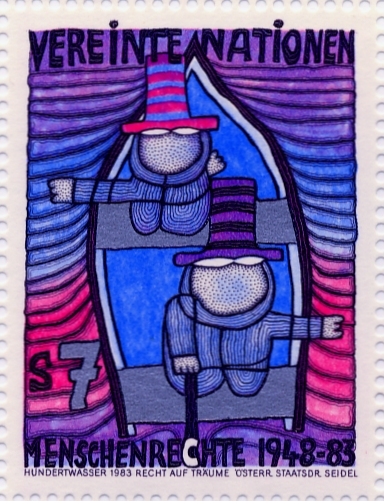 hundertwasser stamp resource  the second skin  the right
